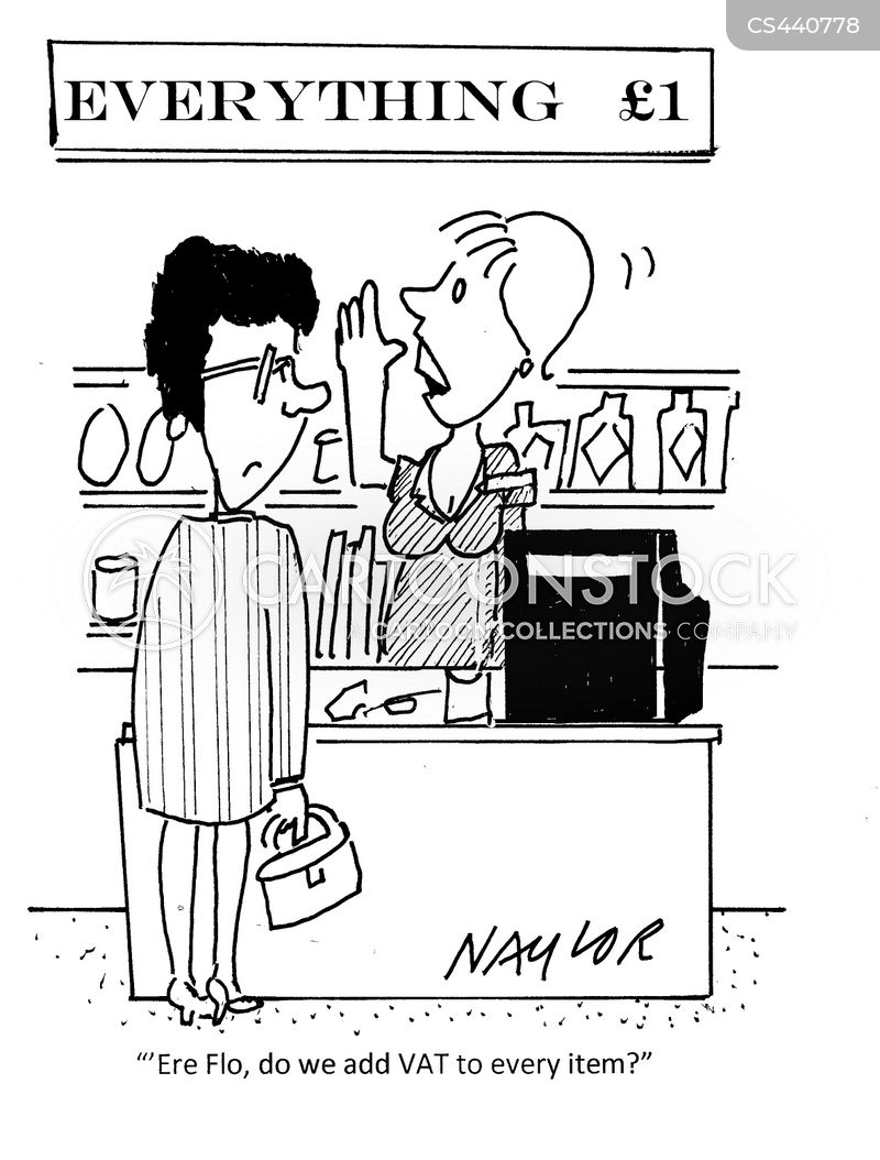 pound store cartoon