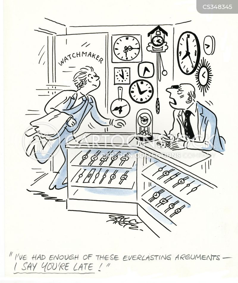 watchmaker cartoon
