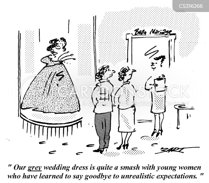 Wedding Dress Shopping Cartoon