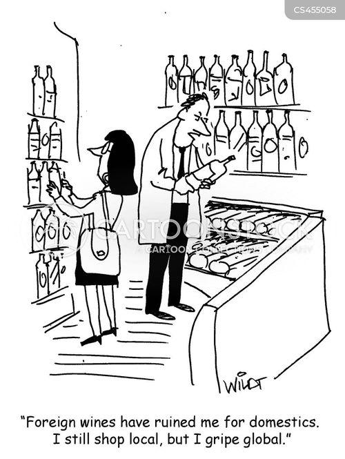 wine import cartoon