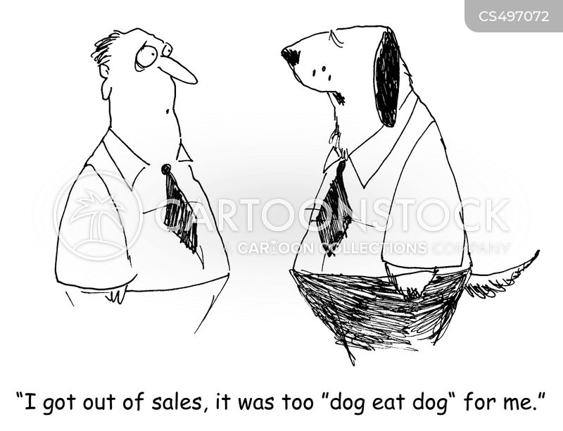 dog-eat-dog cartoon