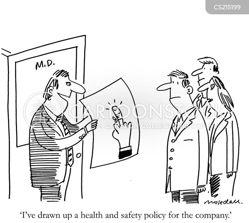 Health Safety With Cleanliness Work Health And Safety Cartoon