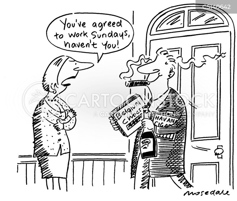 weekend work cartoon