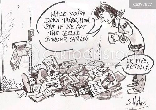 on-line shopping cartoon