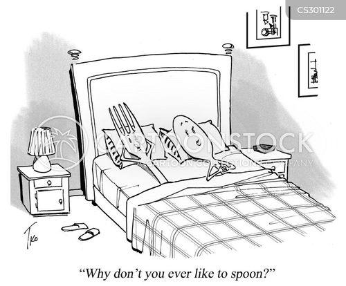 spooning cartoon