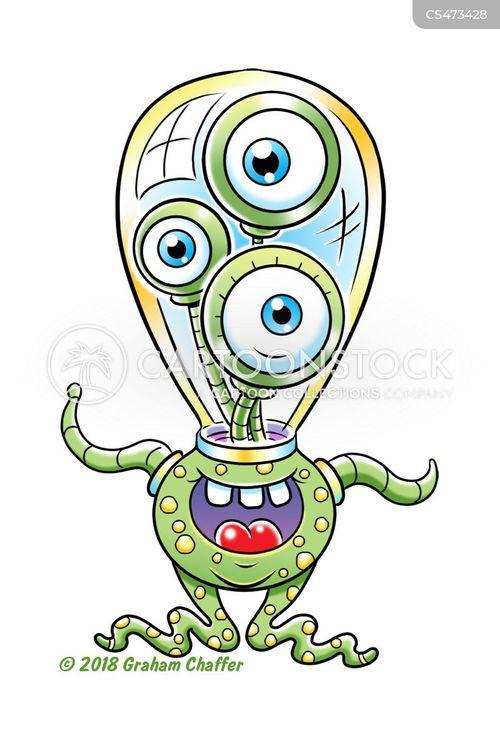 space monsters cartoon