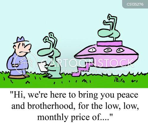 peace and love cartoon