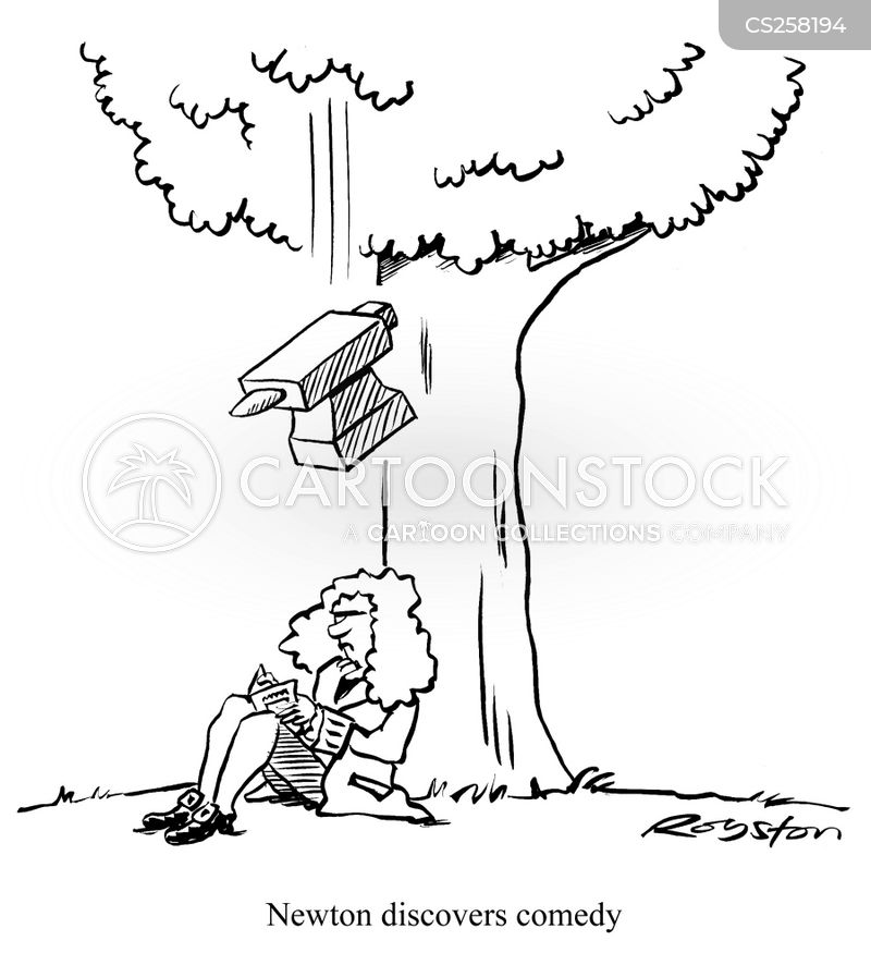Image result for newton cartoon