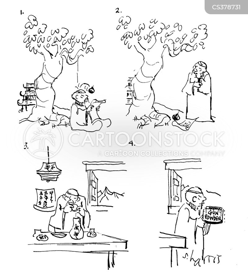 gunpowder cartoon