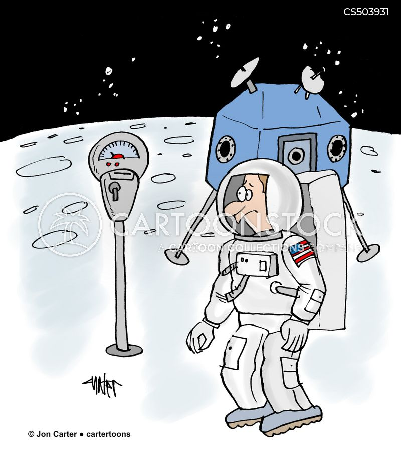 lunar exploration cartoon