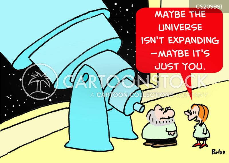 expanding universe cartoon