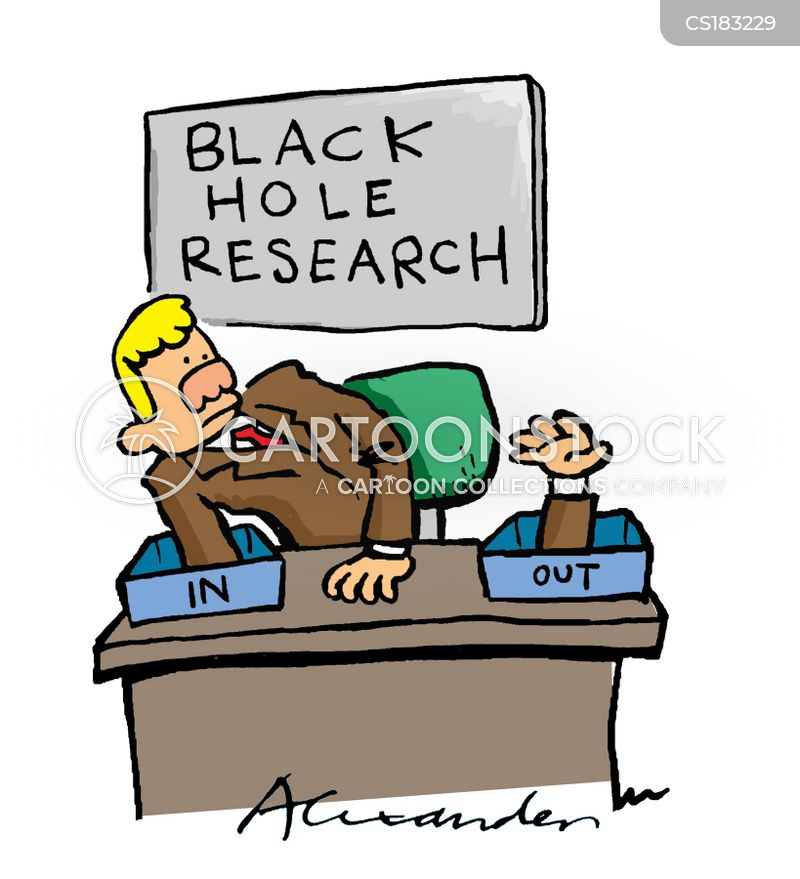 researches cartoon