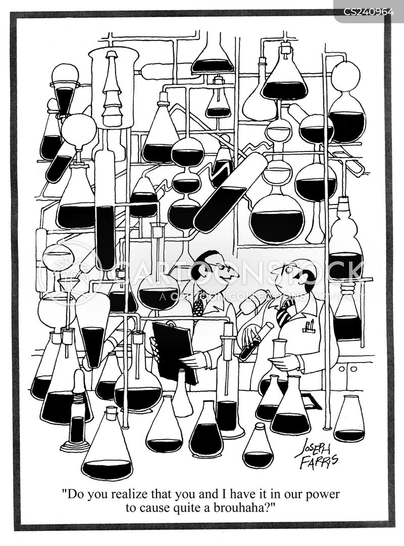 test-tubes cartoon
