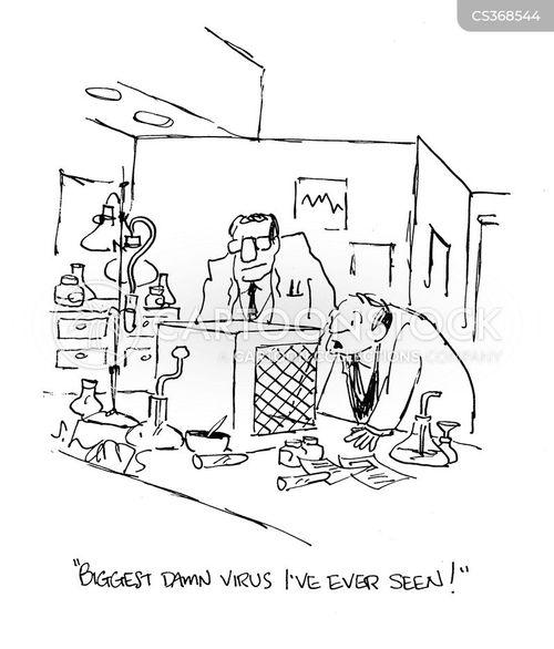 infectious disease cartoon