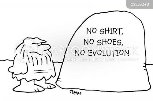 wearing shoes cartoon