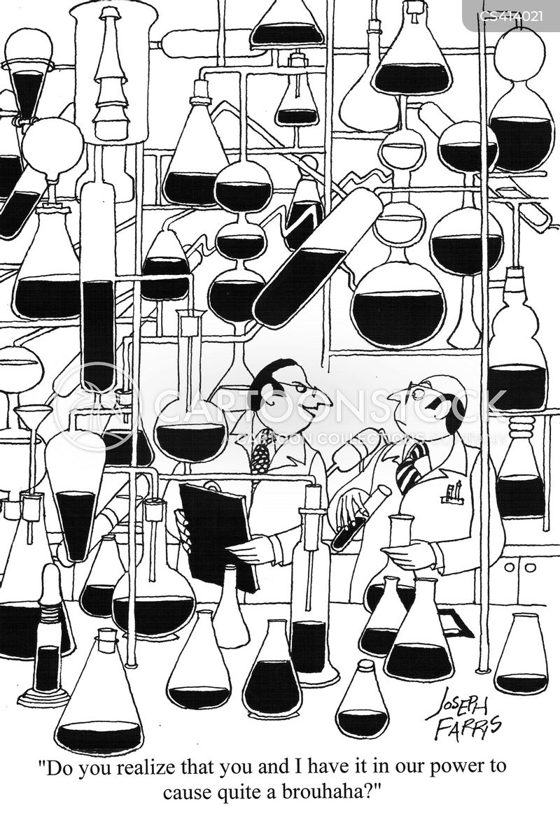 chemistry experiments cartoon