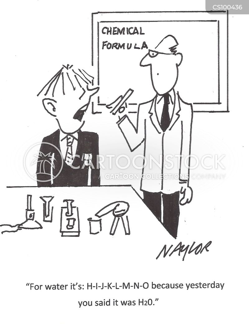 Chemical Symbol Cartoons And Comics Funny Pictures From Cartoonstock