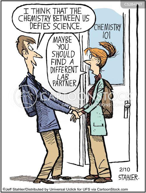 lab partner cartoon
