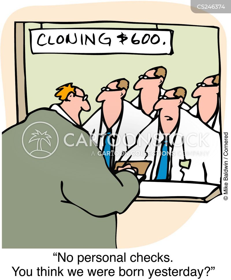 personal cheques cartoon