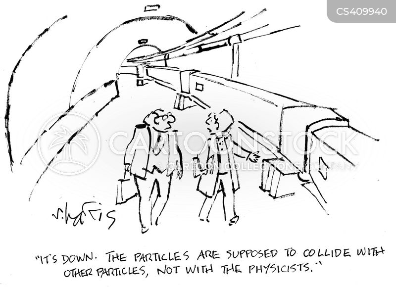 particle colliders cartoon
