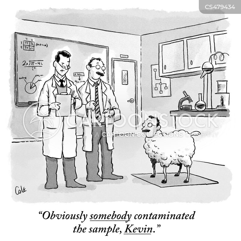Image result for FUNNY CARTOONS ON CONTAMINATED SAMPLES