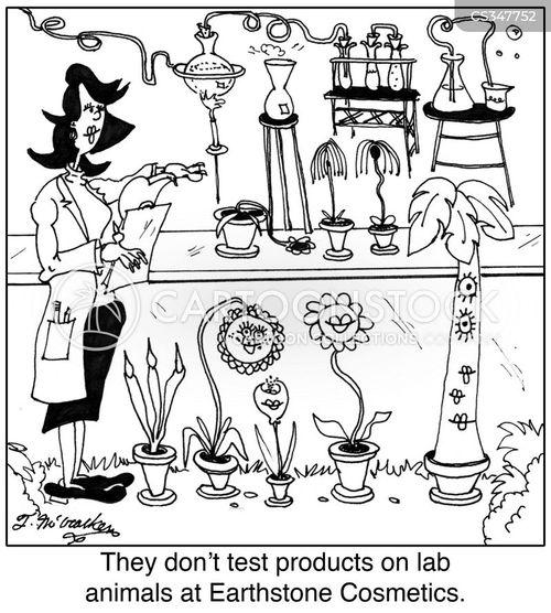 product testing cartoon