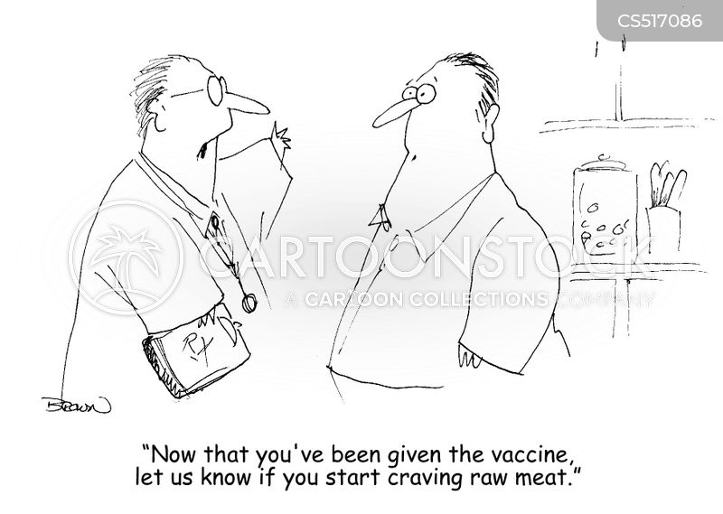 coronavirus vaccine cartoon