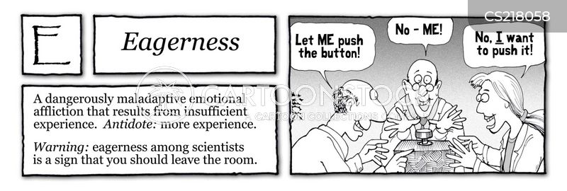eagerness cartoon