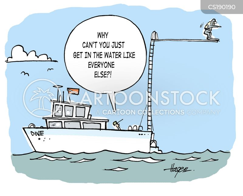 diving board cartoon