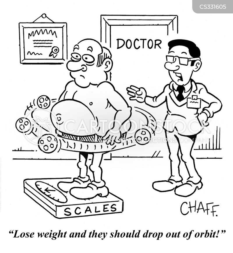weight reduction cartoon