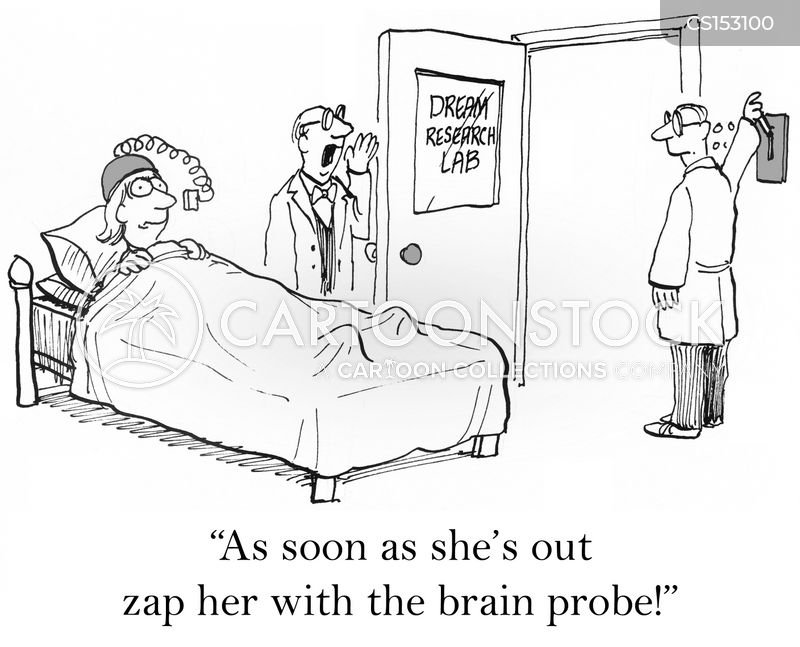 brain probes cartoon