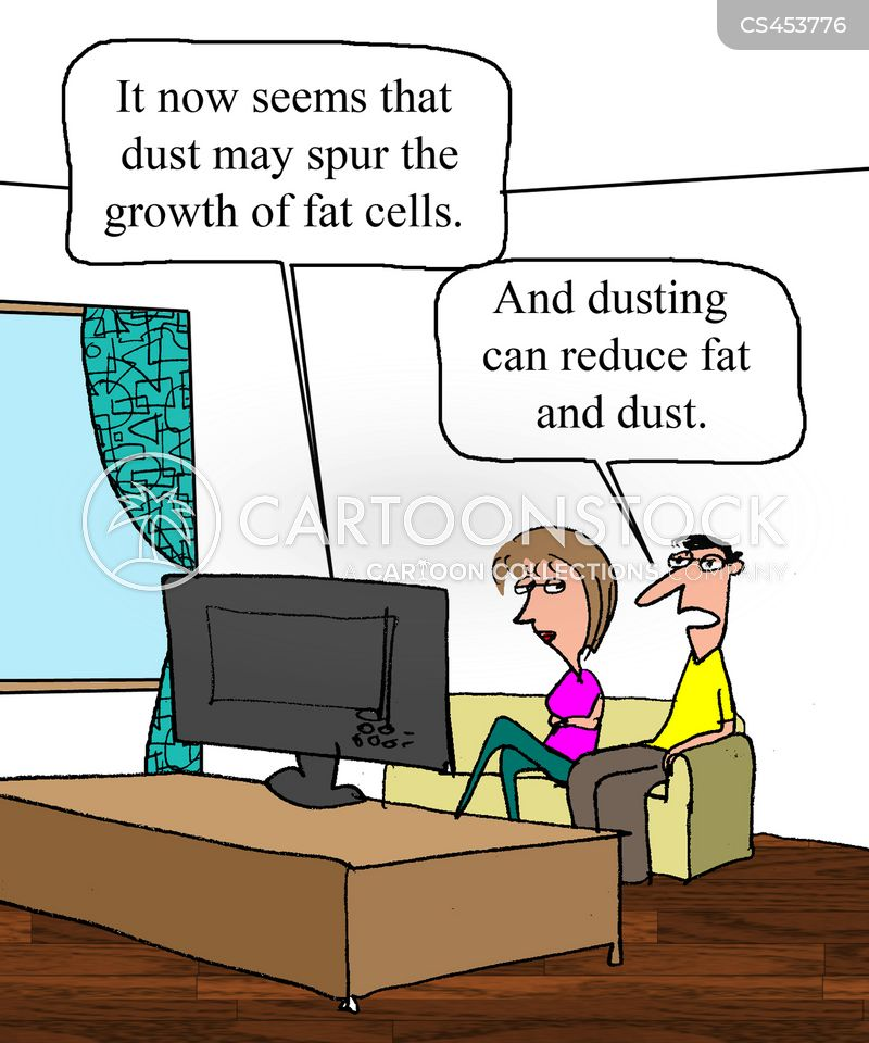 dusting cartoon
