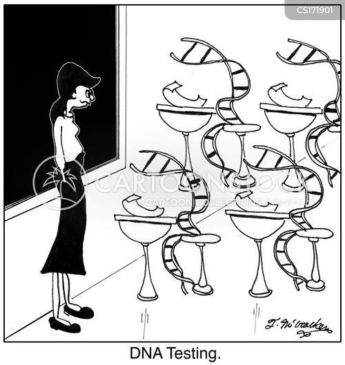 dna testing cartoon