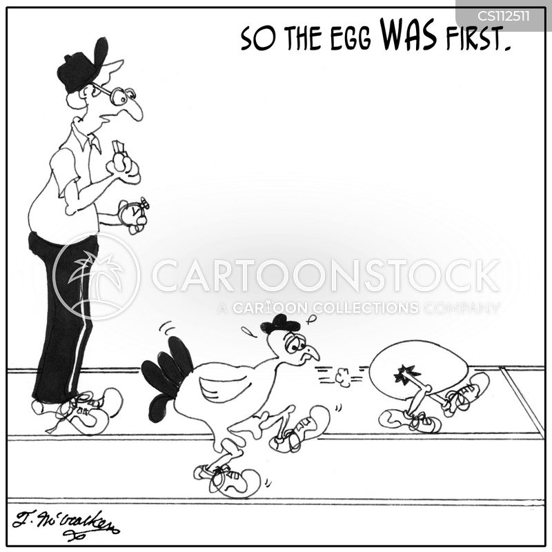 chicken or egg cartoon