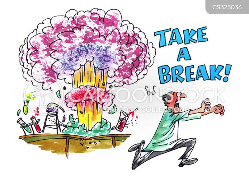 take a break cartoon