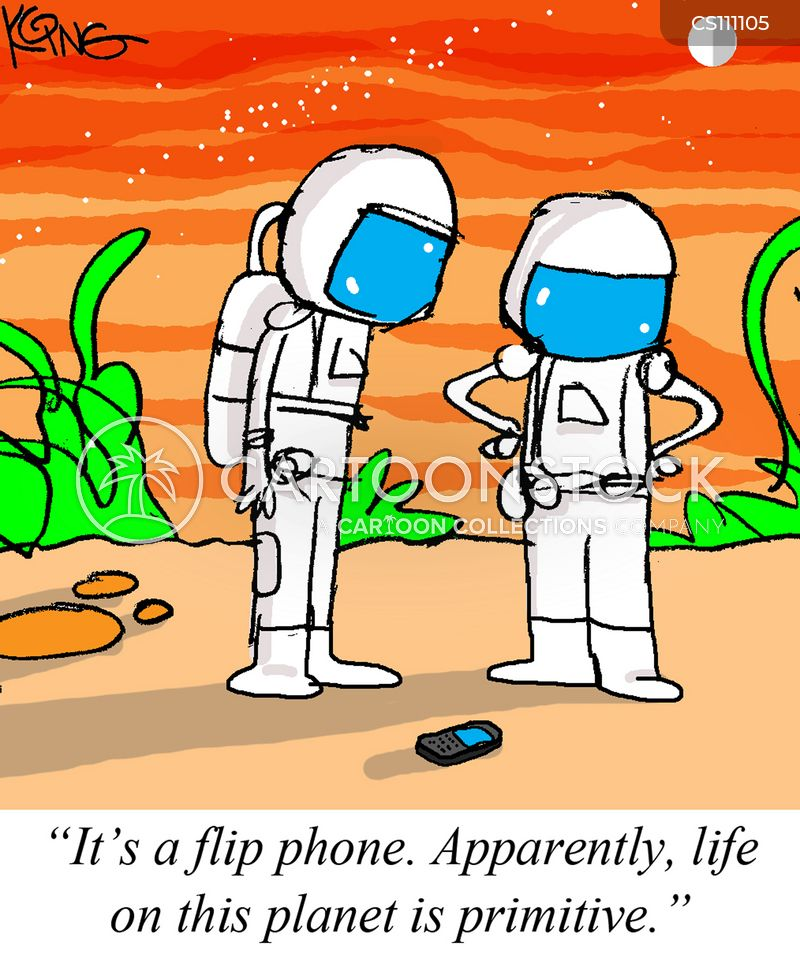 flip phone cartoon