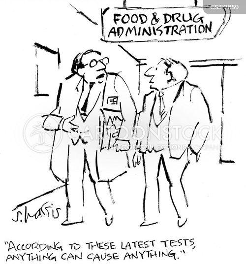 food testing cartoon
