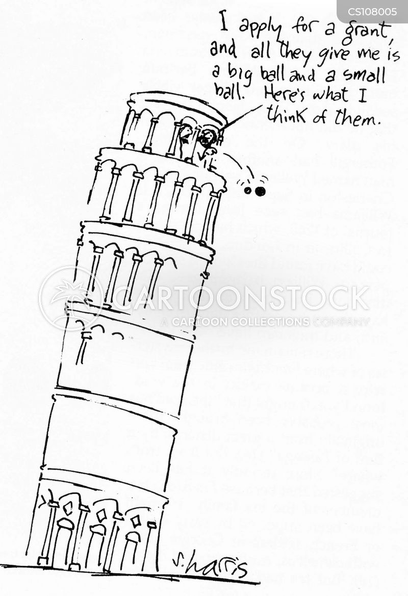 leaning tower cartoon