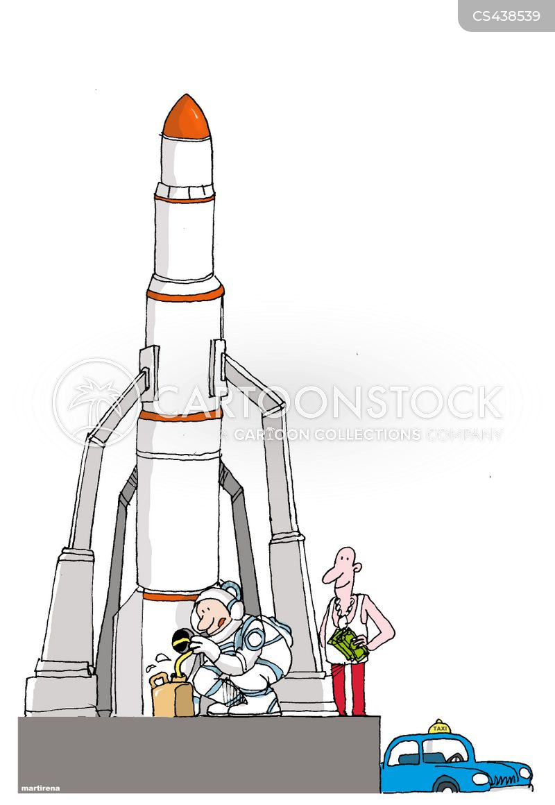 rocket launch cartoon