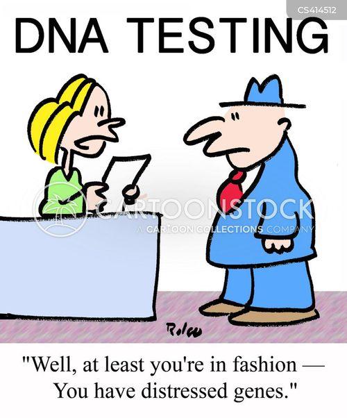 dna analysis cartoon