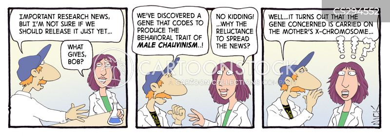 male chauvinist cartoon