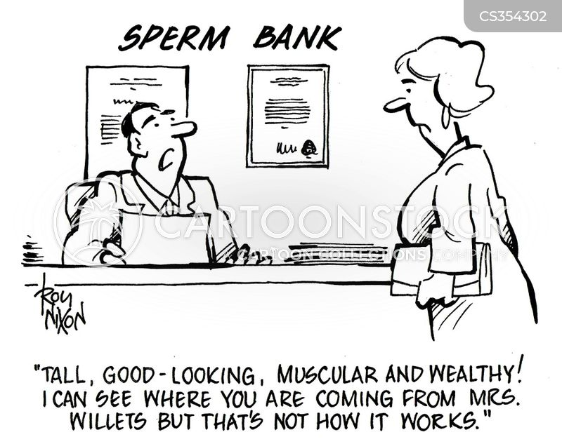 sperm donations cartoon
