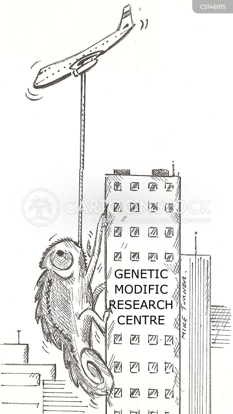 genetic modifications cartoon