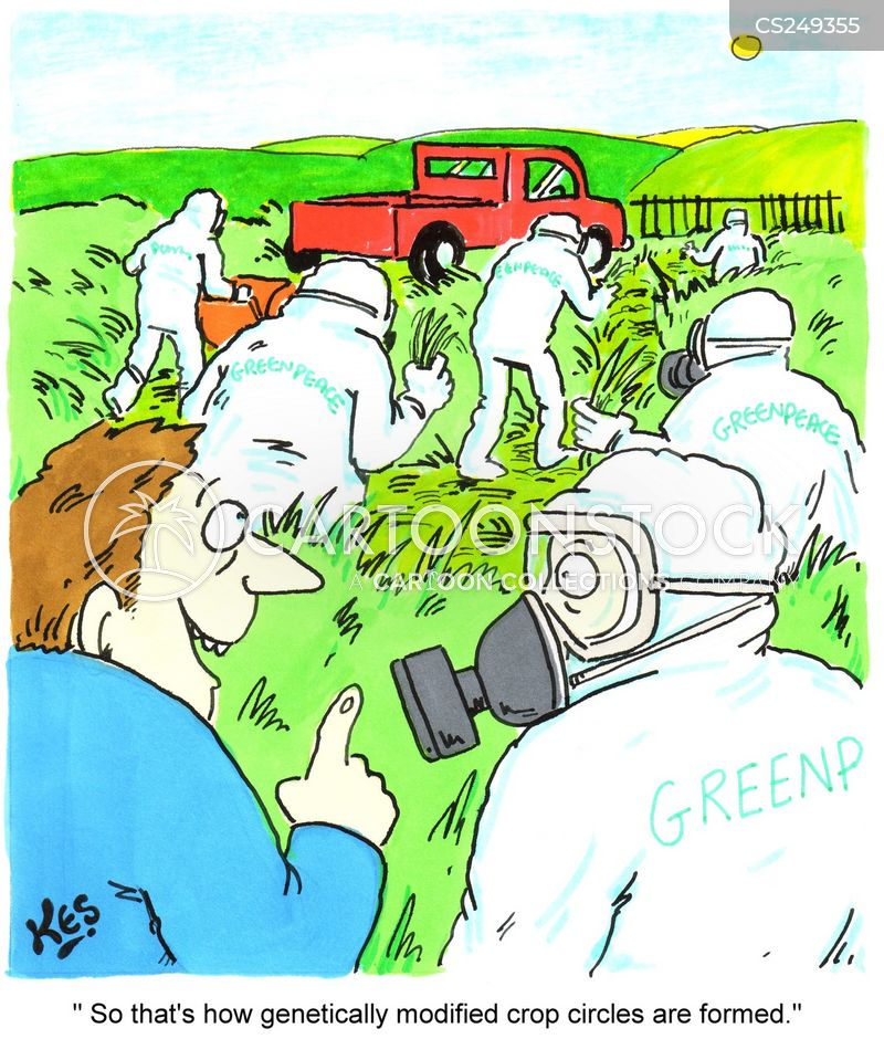 genetically modified crop cartoon