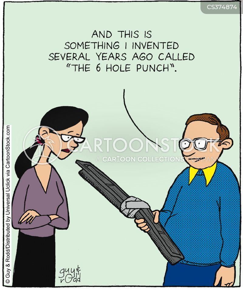 hole punch cartoon