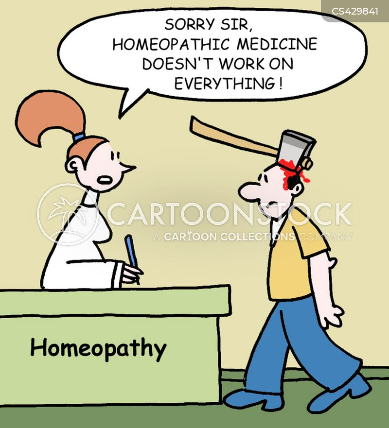 homeopathic treatment cartoon