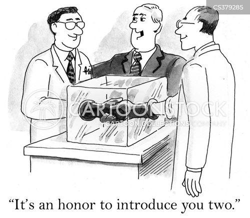 handshaking cartoon