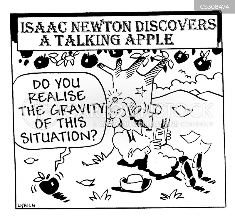 force of gravity cartoon