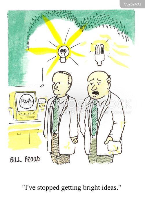 energy saving light bulb cartoon