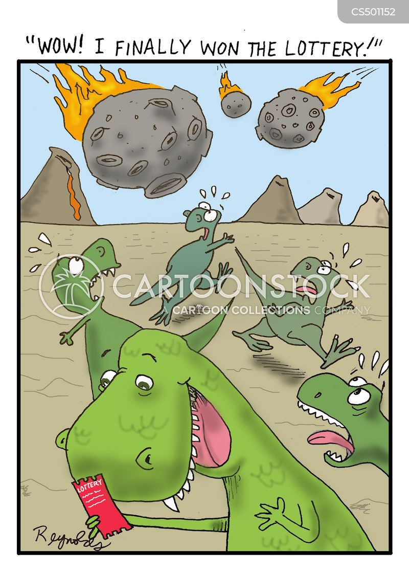 extinction events cartoon